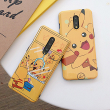 Cute Cartoon Spirit Phone Lanyard Yellow Cases for OnePlus 7 / 7 Pro Shiny Soft Silicone Case Cover Straps for OnePlus 7 Pro 5G