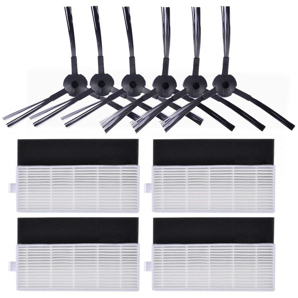 6*HEPA filter+6*Sponge Filter+6*Side Brush for ilife A4 A4s A6 Robot Vacuums