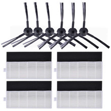 Replacement Filter & Side Brush Kit for ILIFE A6 A4 A4s Robot Vacuum Cleaner (Includes 6 Side Brushes + 4 set Filters) цена и фото