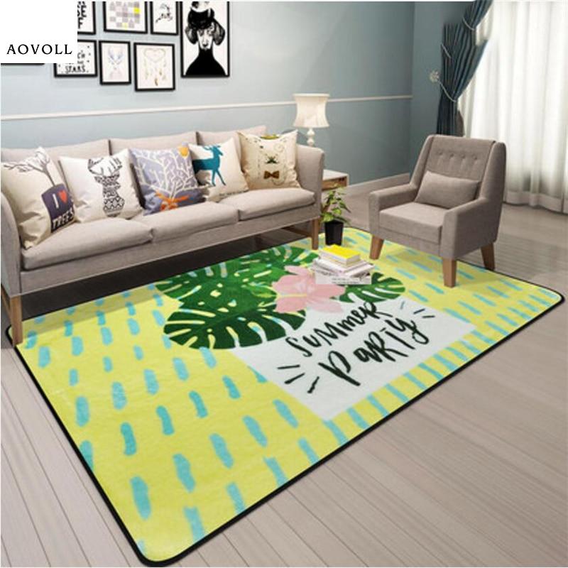 AOVOLL 2018 nouvelle mode moderne tapis doux pour salon chambre enfant chambre tapis maison tapis plancher porte tapis enfants zone tapis