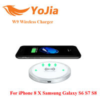 VONTAR W9 Qi Wireless Charger Charging For IPhone 8 10X Samsung Galaxy S6 S7 S8 Galaxy