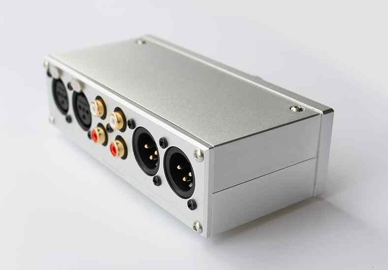 Готовый Мини Полностью сбалансированный пассивный преамп HiFi Предварительный усилитель XLR/RCA регулятор громкости с тумблером