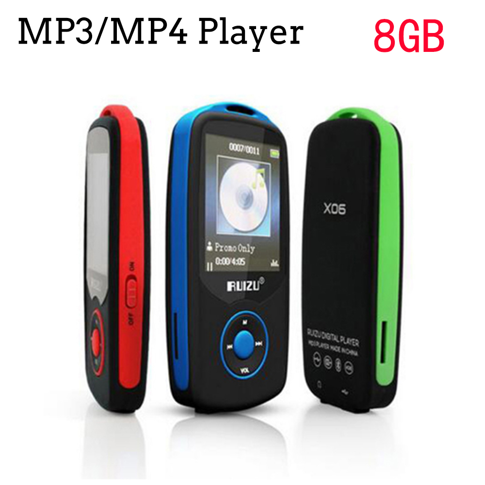 mini Original RUIZU X06 Bluetooth MP3 Player 8GB Sport MP3 Music Player Screen 100 Hours High