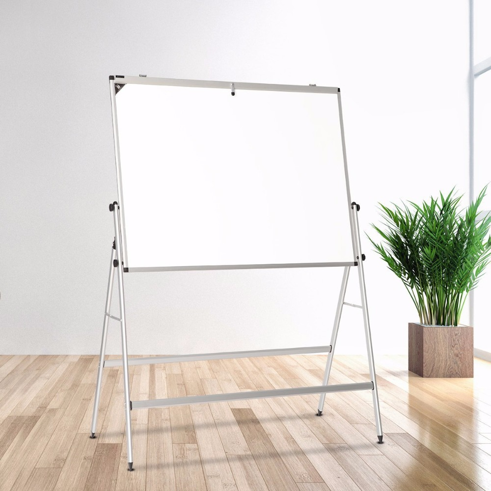ZHIDIAN 40*32Folding Slide Rail Height Adjustment Aluminum Alloy Magnetic Dry Erase Board Easel, Bulletin Board White Boards aluminum folding retractable color easel folding easel sketch new videos