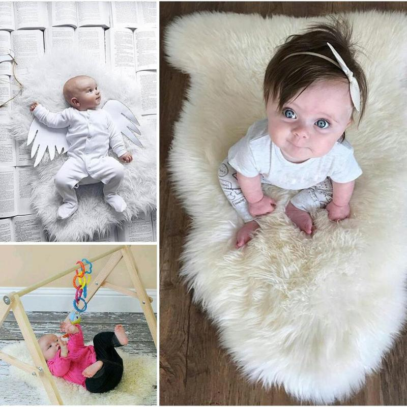 Newborn Photography Props Baby Infant Photo Blankets Faux