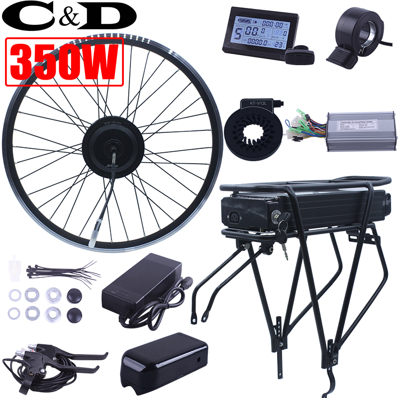 Electric Bicycle Motor Kit With Battery In India: 350W 500W 36V 14AH 48V 12AH Ebike Electric Bike Conversion