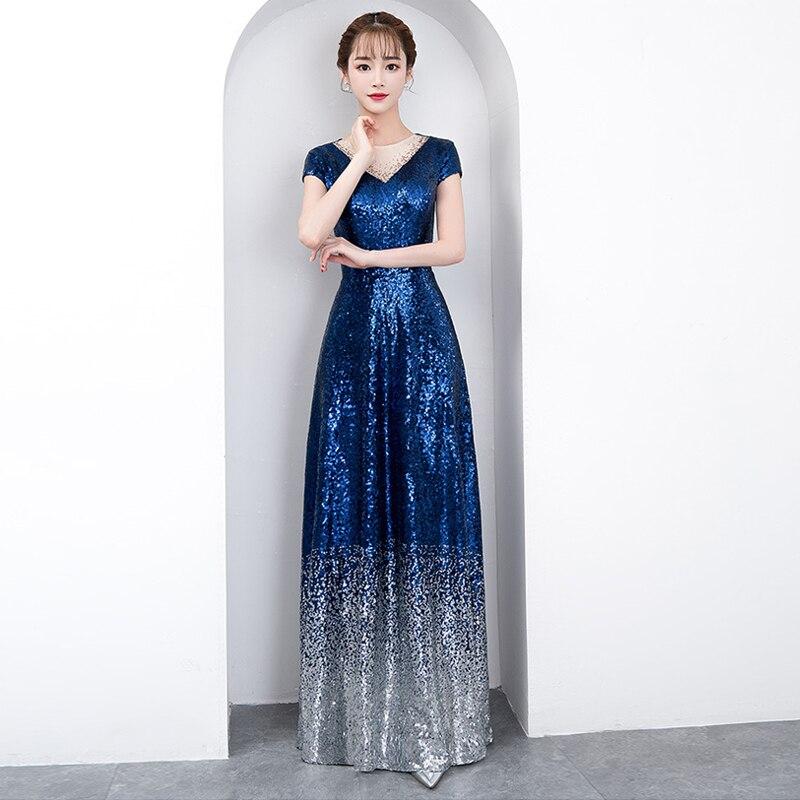 Élégant Soirées 2018 Femmes Gradient Date B62 Robes Paillettes Proms Nouveau 1 Robe Cérémonie Pour Gala Gratuating De Parti Longue Up wBZBX