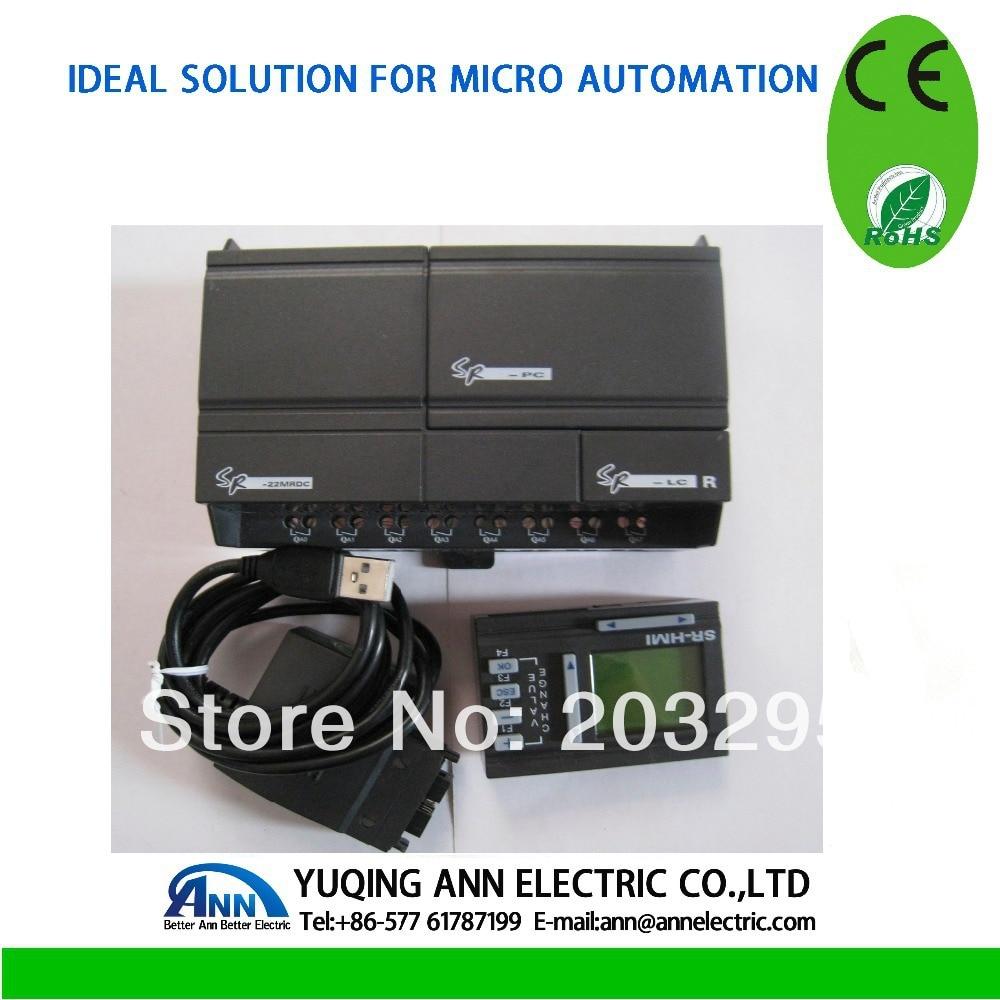 PLC control box  SR-22MRAC (PLC) + SR-HMI+SR-DUSB plc kv c32t