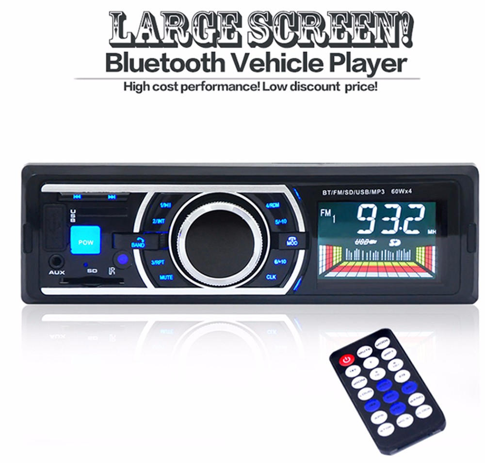 Bluetooth 3.0 USB Car MP3 Audio player Car Radio Stereo Audio12V In-dash Single 1 Din FM Receiver with FM Radio MP3 Player