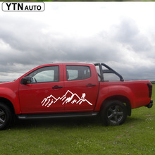 car decals 2pc side body mountains styling graphic vinyl protect scratch stickers for dmax 2012