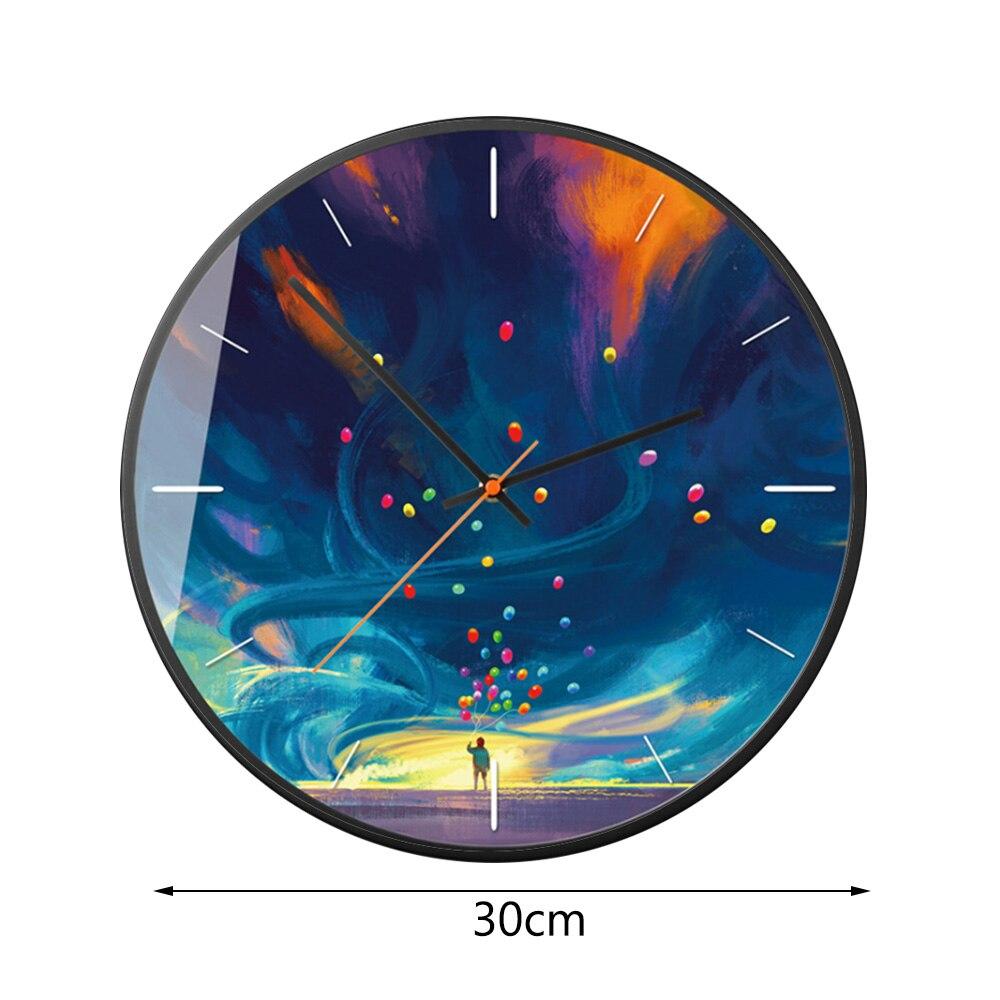 Art peinture à l'huile horloge murale créative mode chambre horloges moderne minimaliste européen et américain luxe montres murales