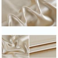 Good drapery 140cm wide width soft smooth heavy 100% silk satin fabric for dress