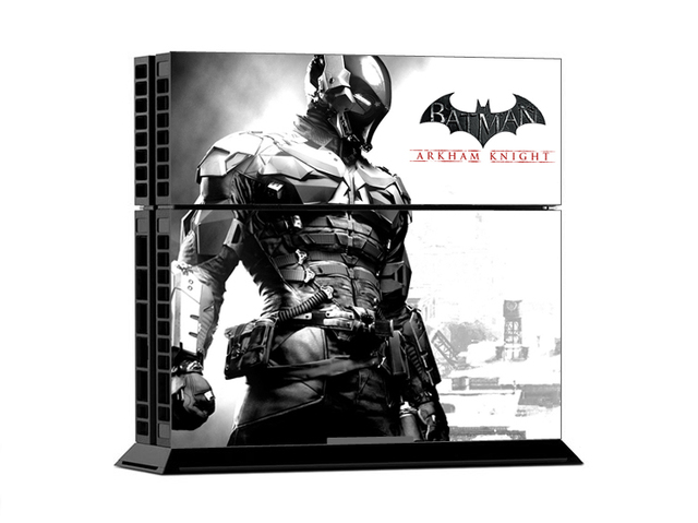 Low price arkham knight skin sticker for playstation 4 ps4 console 2pcs free controller cover
