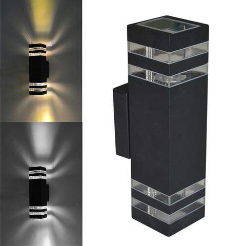 jiawen 2 pcs lote moderna iluminacao de parede ao ar livre lampada de parede ao