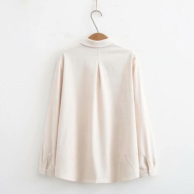 Mais tamanho inclinado único breasted veludo feminino solto blusa 2020 nova primavera outono casual senhoras camisas feminino topo oversize