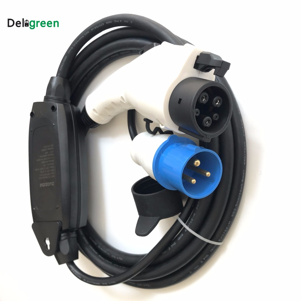 Duosida Rapid Ev Car Charger 16a Level1 250v Portable Blue Cee Plug Mode1 Dc Charging