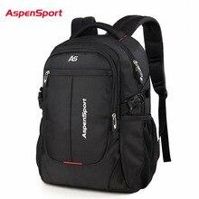 AspenSport męskie torby podróżne plecak na laptopa Fit 15 17 Cal komputer wodoodporny tornister na studia czarny