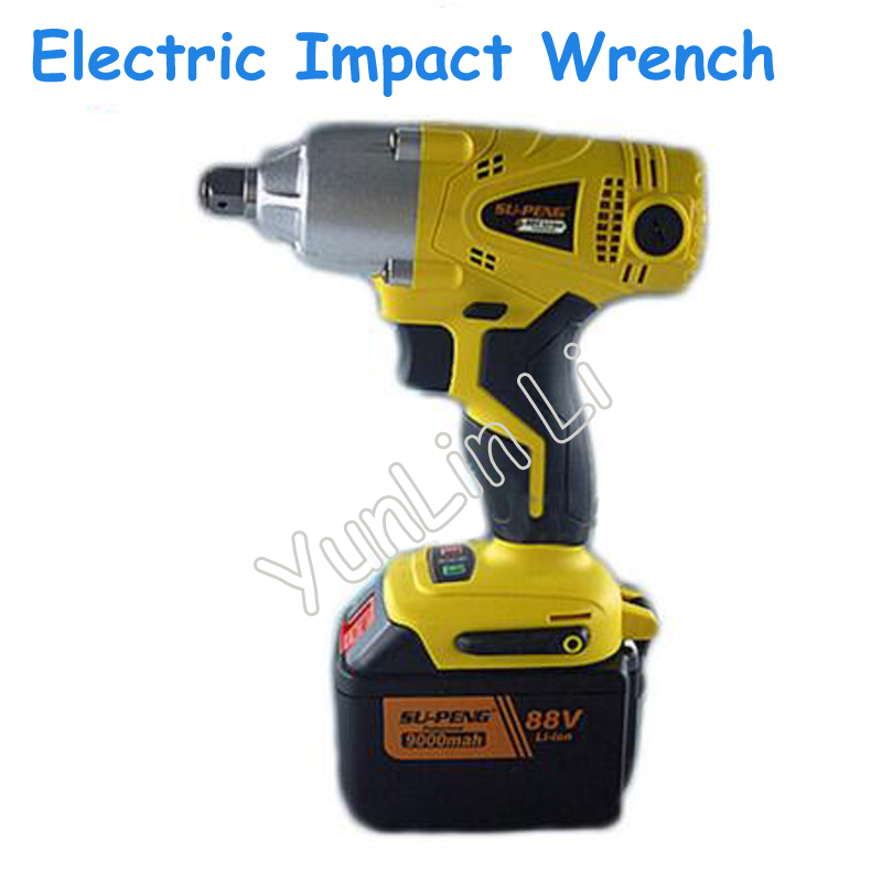 Electric Impact Wrench Rechargeable Electric Wrench 88V 9000mA Quickly Change the Brush Electric Wrench Tool rotor rechargeable impact wrench accessories for makita dtw450rfe stator bearing chassis handle switch gear shell carbon brush