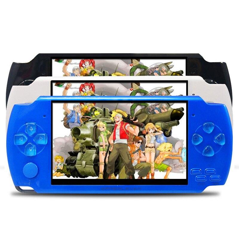 X6 Портативный портативный игровой консоли 8 г 4.3 дюймов mp4 видео плеер игровой консоли Бесплатная игры книги Камера Запись игр консолей