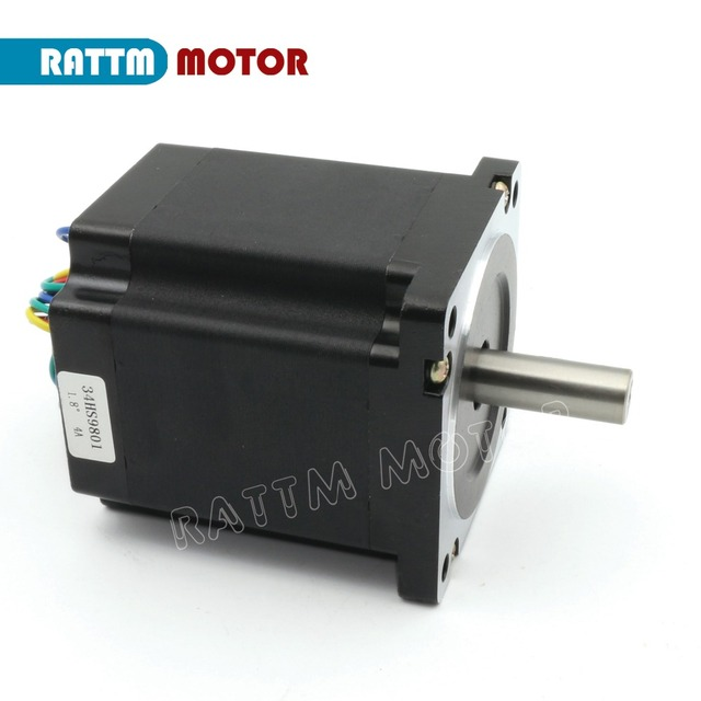 DE 4 Axis CNC controller Kit NEMA34 878 oz-in stepper motor Single shaft + CW8060 Driver 6A 80V/DC for Large size Router Milling