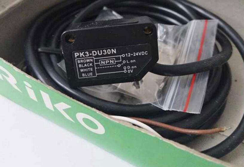 New original RIKO photoelectric switch PK3-DU30N DC voltage 12-24V diffuse reflective detection distance up to 300MM 100% new and original fotek photoelectric switch a3g 4mx mr 1 free power photo sensor