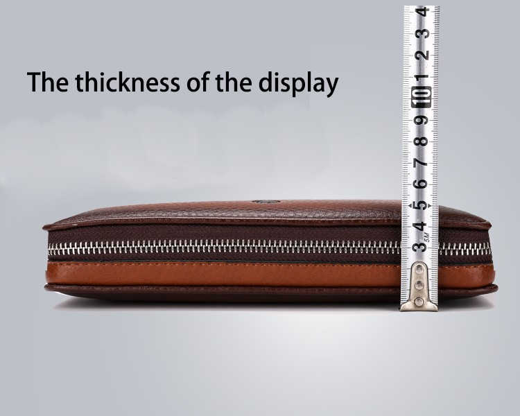 2016 Luxury Male Leather Purse Men\'s Clutch Wallets Handy Bags Business Carteras Mujer Wallets Men Black Brown Dollar Price (7)