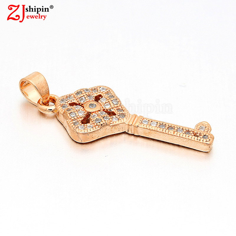 2018 Fashion Key Pendant CZ Zircon Micro-inlaid Jewelry Accessories for Fashion Girls Jewels Production