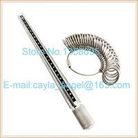 Ring Sizer Stick And Mandrel Set Measure Ring Gauge Metal Finger Size Tool Measureing 1 28