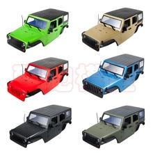 12.3inch 313mm Wheelbase Body Car Shell for 1/10 RC Crawler Axial SCX10 & SCX10 II 90046 90047 Unassembled Jeep Wrangler Part injora 150mm super bright metal 11led lights bar for 1 10 rc crawler axial scx10 jeep wrangler body
