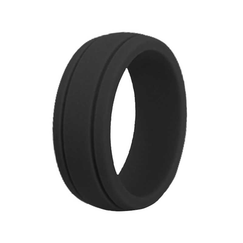 Size8-12 Hypoallergenic Crossfit Flexible Rubber Finger Rings 8mm Food Grade FDA Silicone Ring For Women Men Wedding Rings Bands