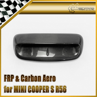 Car Accessories For Mini Cooper S R56 2007 2014 Carbon Fiber VTX Style Hood Scoop Glossy Fibre Finish Air Vent Body Kit Trim