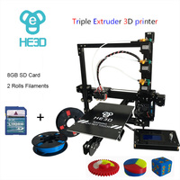 Nueva actualización 24 V fuente de alimentación para la cama HE3D Reprap EI3-Tricolor auto nivel de gran área de construcción triple extrusora impresora 3d diy kit