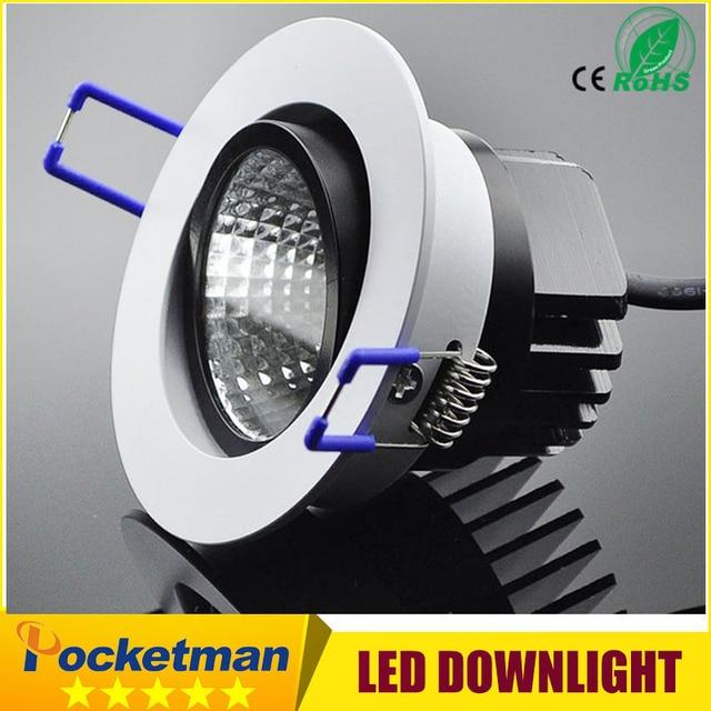 LED COB Downlight 5W 7W 9W 12W Recessed LED Ceiling light Spot Light Lamp 220V White/ warm white