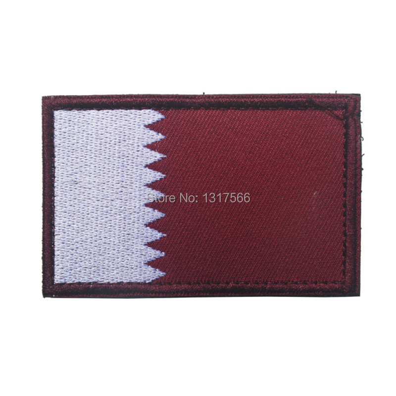 Qatar National Flag Embroidery Patch Embroidered Patches