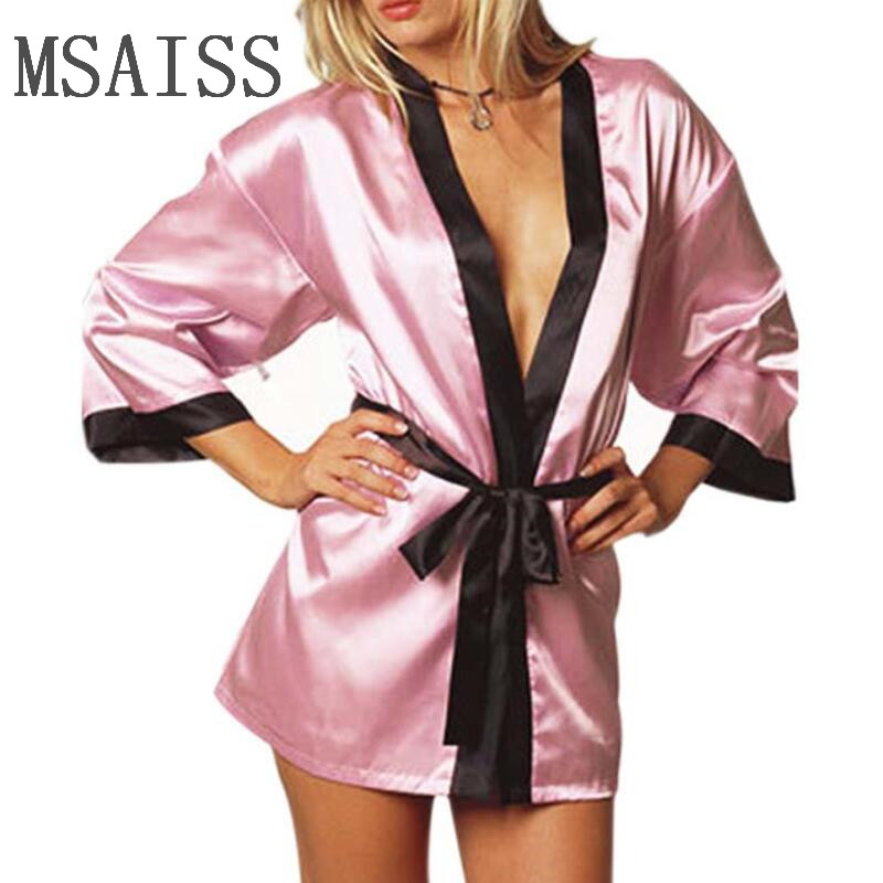 Women Silk Satin Short Night Robe Solid Kimono Robe Fashion Bath Robe Sexy Bathrobe Bride Bridesmaid Robe