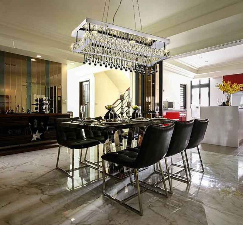 Moderne Lampe Suspension Design Rectangle Rain Drop Luminaire ...