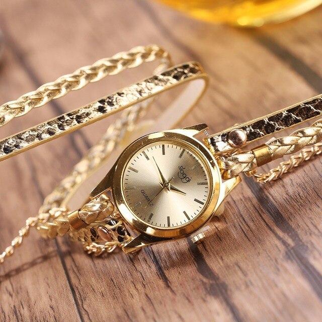 שעון קוורץ לאישה עם צמידים אופנתיים 1
