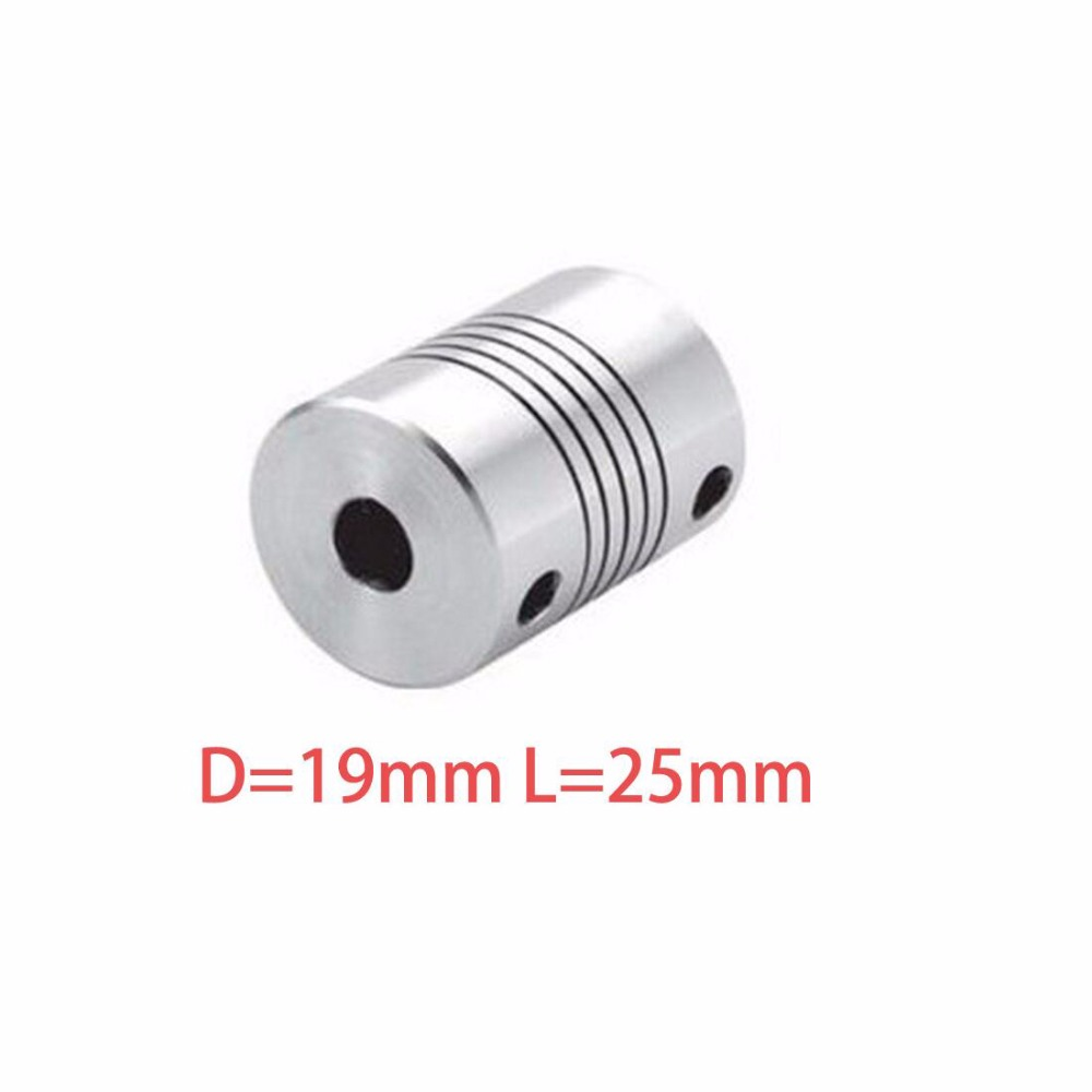 Hot sale 10pcs D19L25 CNC Motor Jaw Shaft Coupler Flexible Coupling OD 19x25mm wholesale Dropshipping 4/ 5/6/6.35/8/9.5/10/12mm подвеска серебряная 5386055 3
