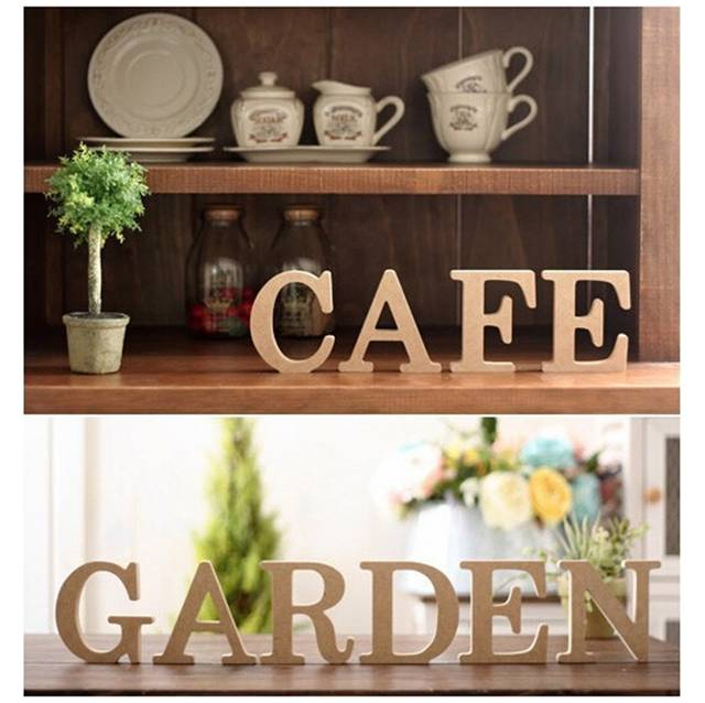 Online Shop A Z Wooden Letters Alphabet Word Decoration Wedding