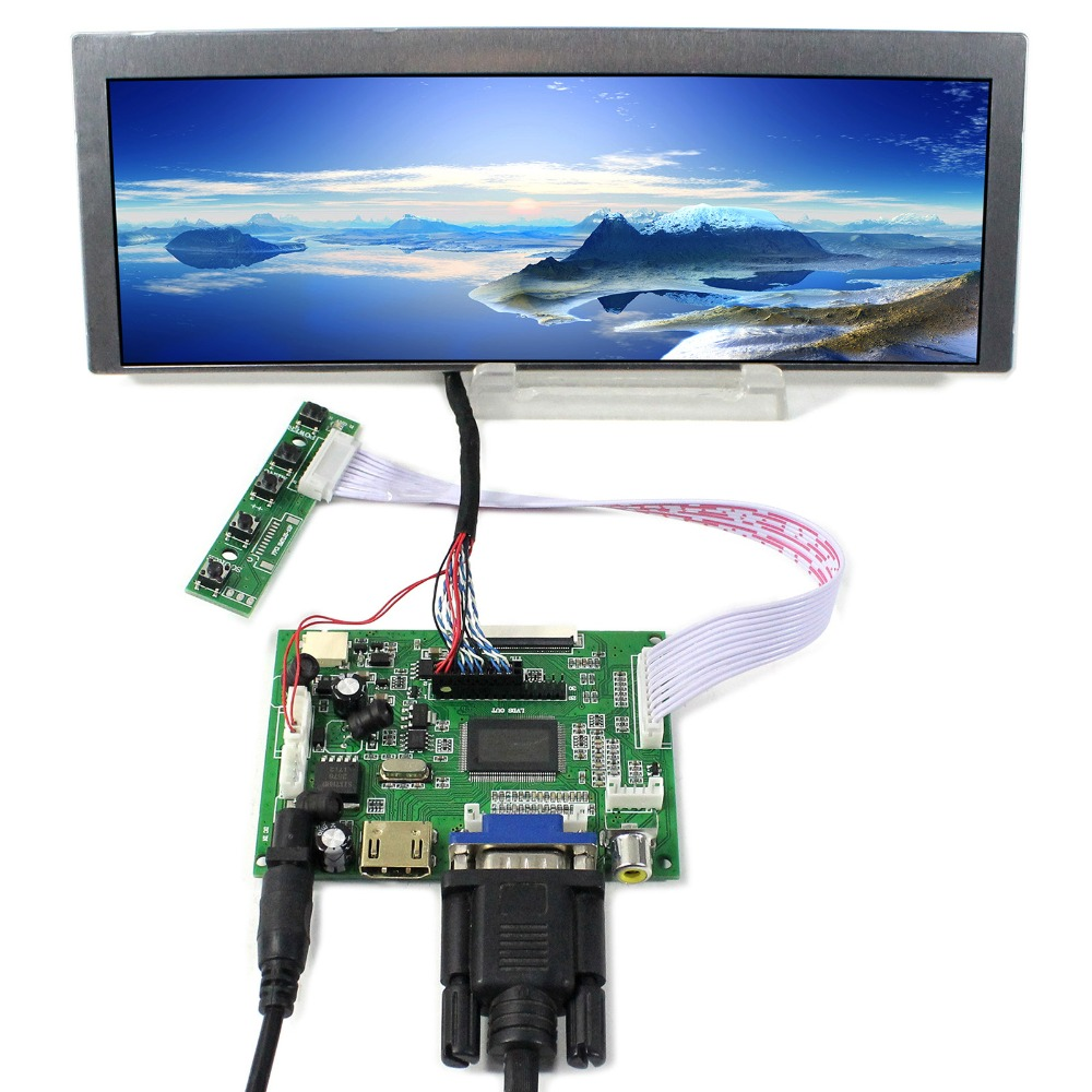 HDMI VGA 2AV LCD Controller Board With 9 1inch 822X260 LQ091B1LW01 LCD Screen