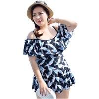 Newest Bird Print Padded Skirt Bandeau Swimwear Women One Piece Swimsuit Beachwear Bathing Suit Swimwear Dress