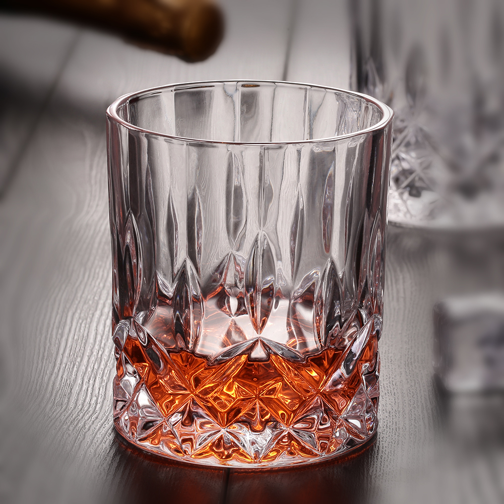 250ml Diamond Bottom Round Genuine Whisky Brandy Glasses For Wedding Party Home Bar Hote ...