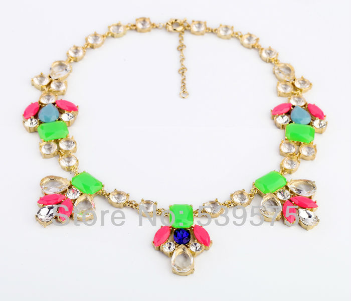 Chic New Hot Sale Guardian Angel Necklaces Stone Setting Chain Colorful For Girl Necklace