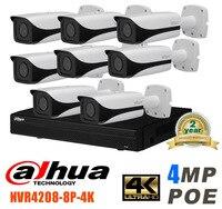 Dahua 8CH CCTV 1080P NVR4208 IP Camera System/Kit with 8PCS DAHUA IPC HFW4421E 4MP Full HD WDR Network Small IR Bullet IP Camera