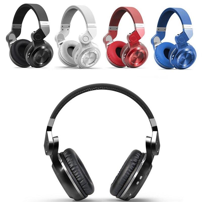 Casque d'écoute Bluetooth sans fil CHICLITS T2 Plus V4.1 stéréo basse pliable/extensible casque de musique prise en charge Radio FM/carte TF