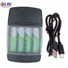 Chargeur de batterie avec indicateur LED charge rapide pour piles 1.6V AA/AAA AAAA Ni ZN chargeur de NI ZN prise ue/US