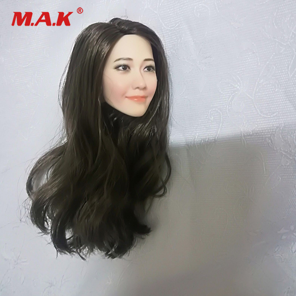 1:6 Scale Korean Beautiful Female Head Sculpt Yoona Pale Long Hair Head Fit 12inch Woman Action Figures goldy goldy