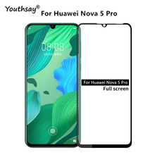 1PCS For Huawei Nova 5 Pro Glass 2.5D Full Glue Screen Protector Film for