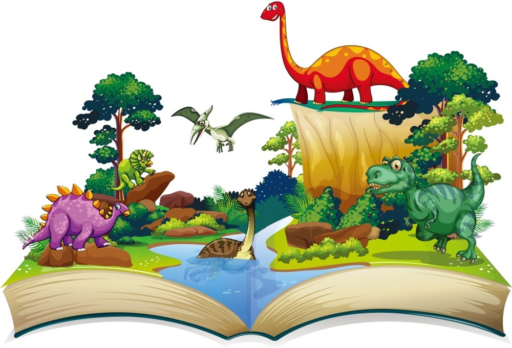 Laeacco Cartoon Book Dinosaur Party Portrait Scenic Photographic Backgrounds Baby Newborn Photography Backdrops For Photo Studio