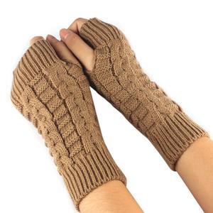 Autumn Gloves Hand-Warmer Mittens Wrist-Arm Gants Long Fingerless Femme Women Winter